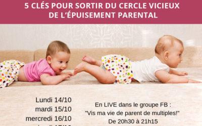 Masterclass gratuite : 5 clés pour sortir du cercle vicieux de l'épuisement parental
